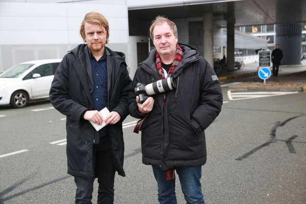 Aftonbladets team Staffan Lindberg och Krister Hansson på plats.
