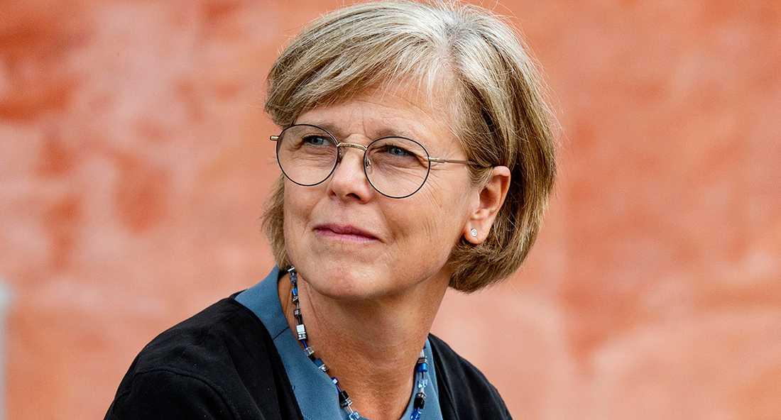 """Ingrid Carlberg, aktuell med boken """"Nobel. Den gåtfulle Alfred, hans värld och hans pris""""."""