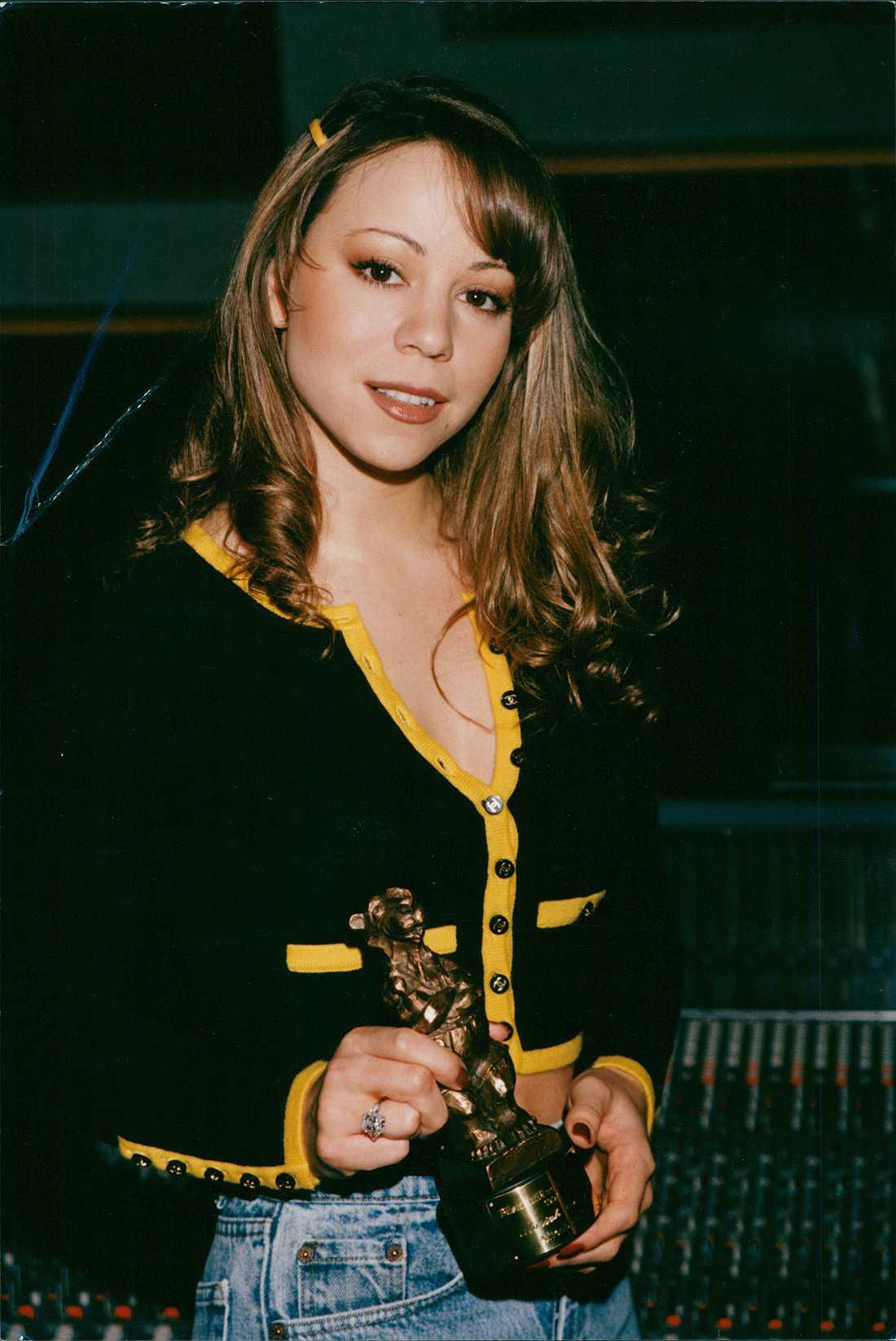1994 blev Mariah Carey så här glad när hon blev årets utländska artist.