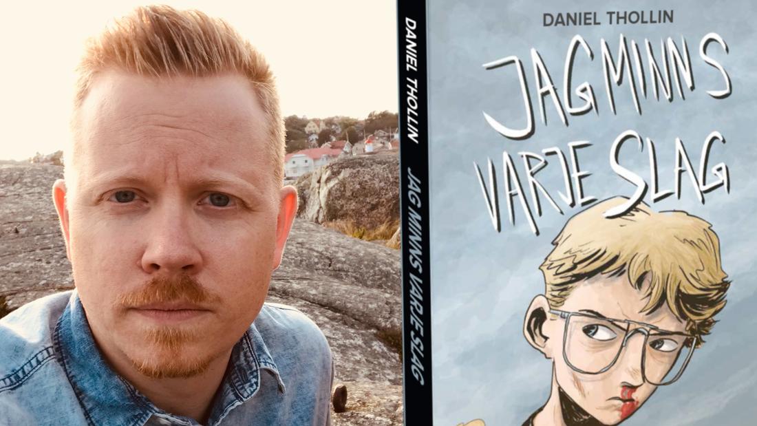 """Daniel Thollin från Uppsala är aktuell med självbiografiska """"Jag minns varje slag""""."""
