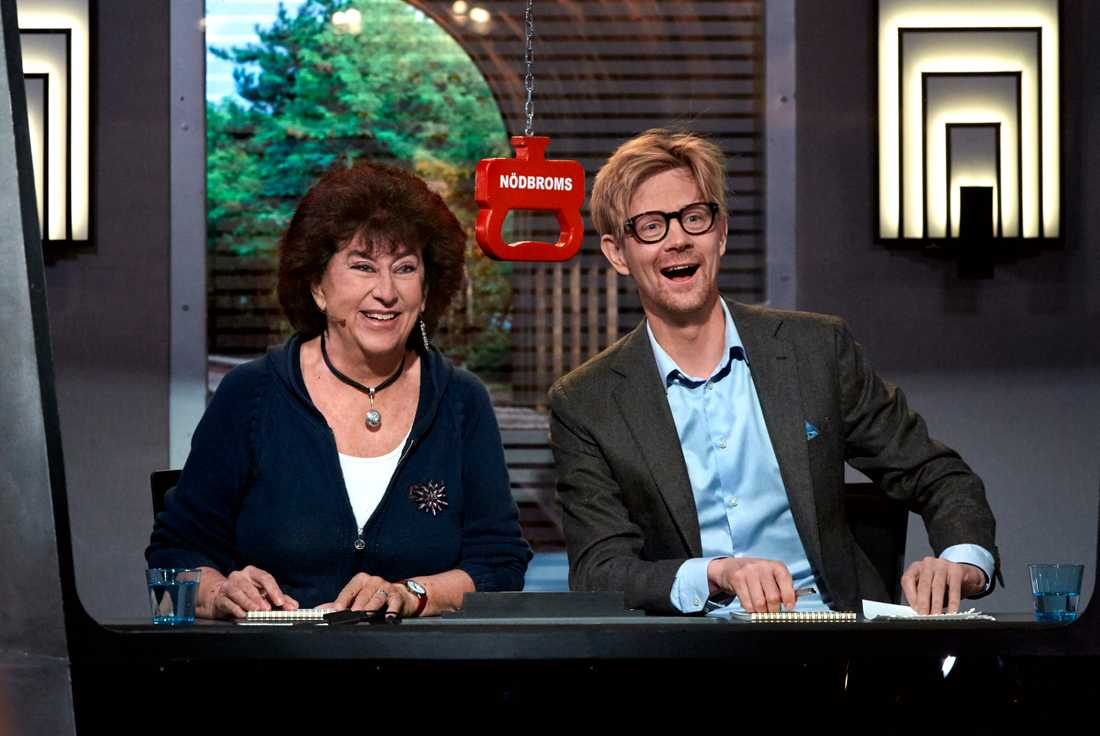 "Marianne Ahrne och Anders ""Ankan"" Johansson."