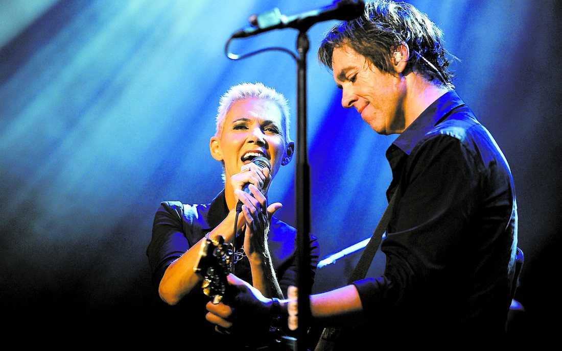 """Marie Fredriksson sjöng två låtar, """"It must have been love"""" och """"The look"""", tillsammans med Per Gessle. """"Hon var fantastisk"""", säger Gessle om hennes insats."""