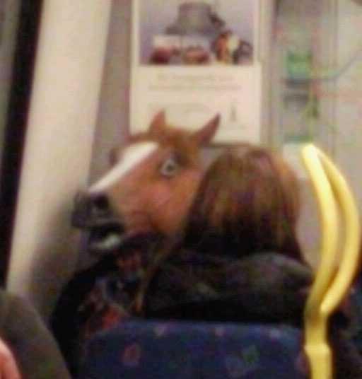 Hästpojken dök plötsligt upp på tunnelbanan i Stockholm i höstas.