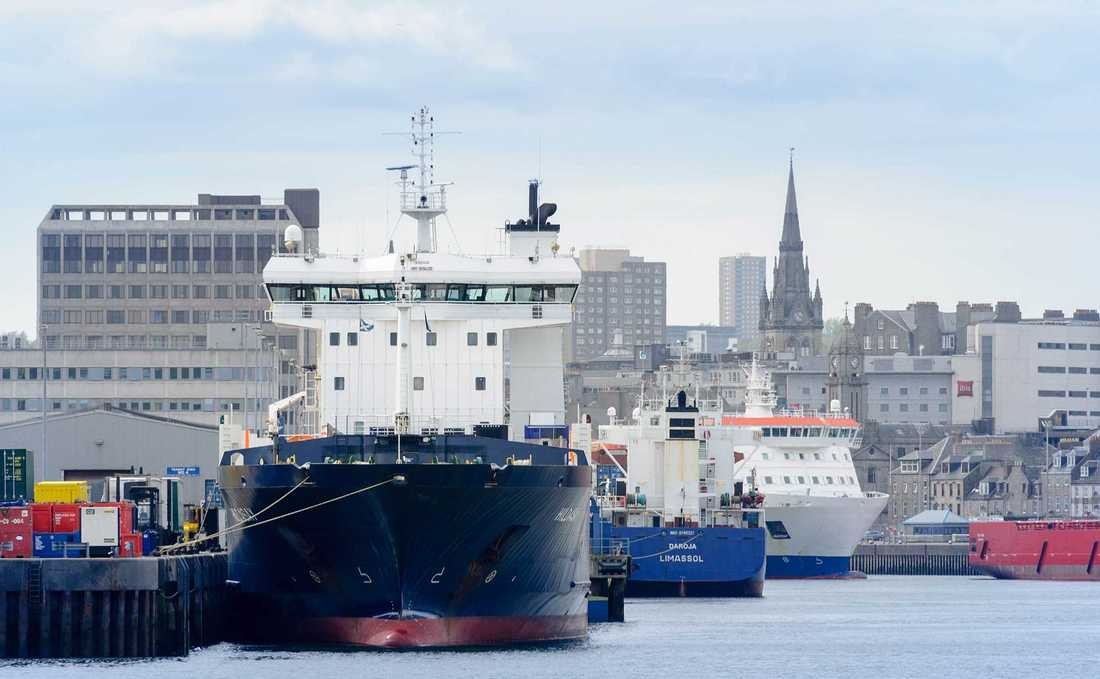 Viktig hamn Den stora hamnen i Aberdeen, och de inkomster som den ger, skulle påverkas negativt om Storbritannien gick ur EU.