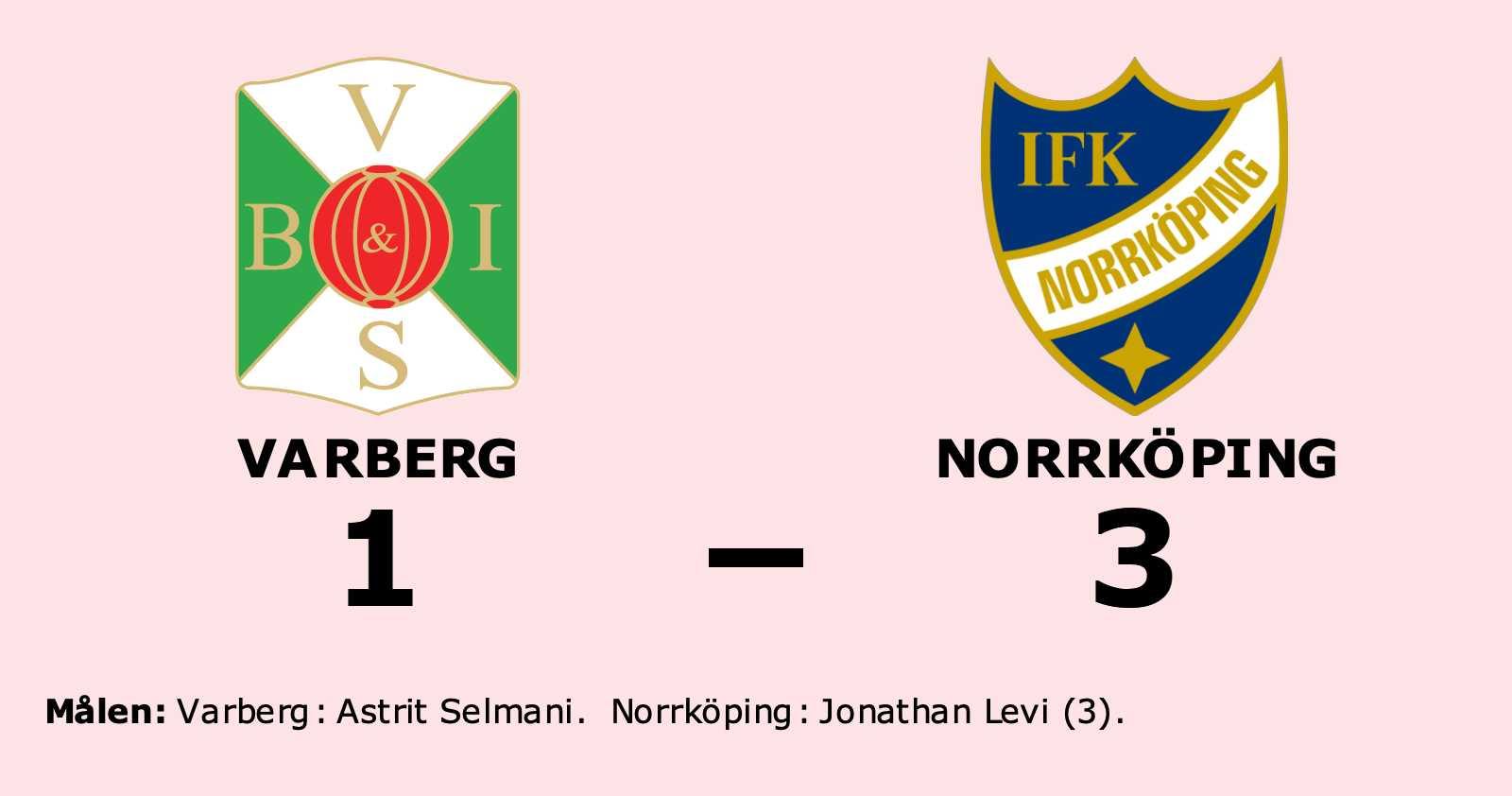Tre mål av Levi när Norrköping vann