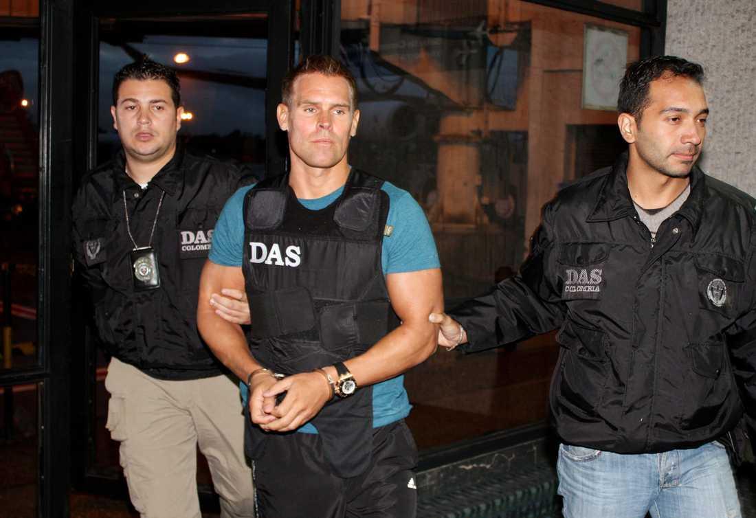 Jonas Falk greps i Colombia 2010. Arkivbild.