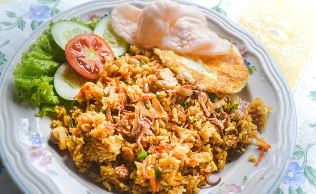 Nasi goreng – pytt på indonesiska.