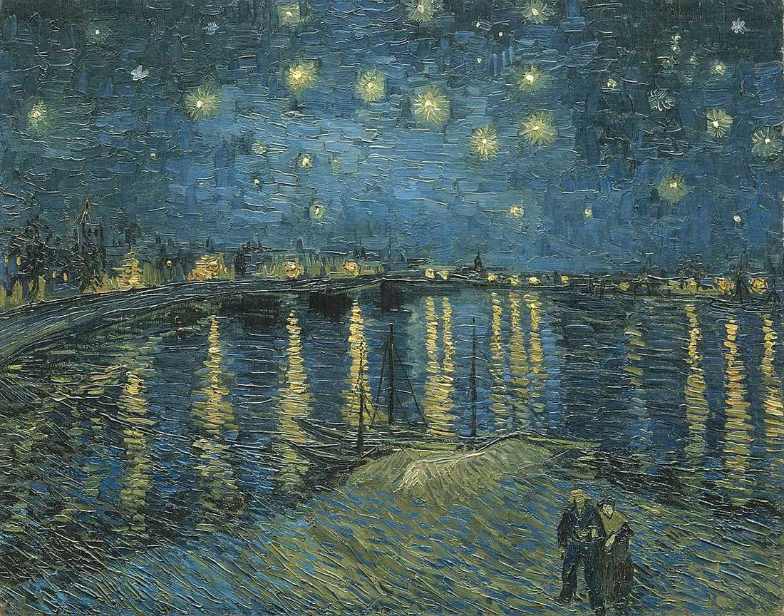 "Van Goghs ""Starry Night over the Rhone""."