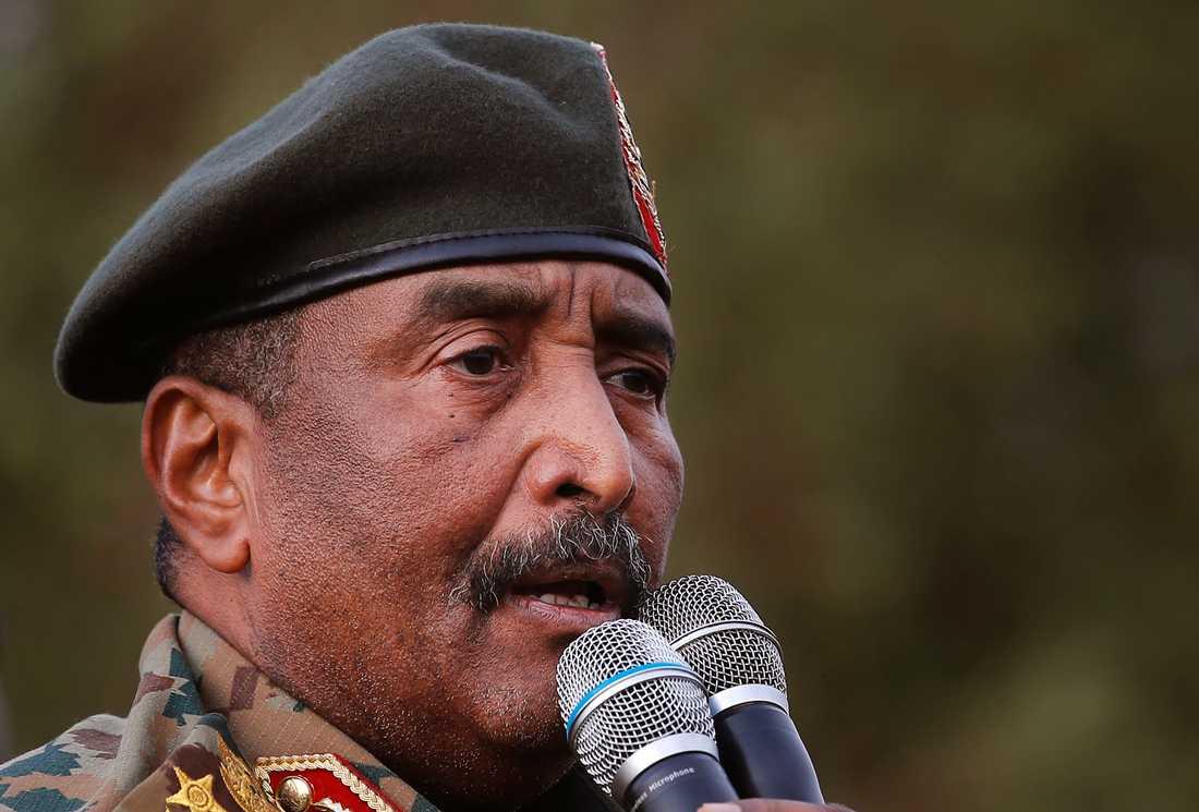 Den sudanesiska juntaledaren Abd al-Fattah al-Burhan. Arkivbild.