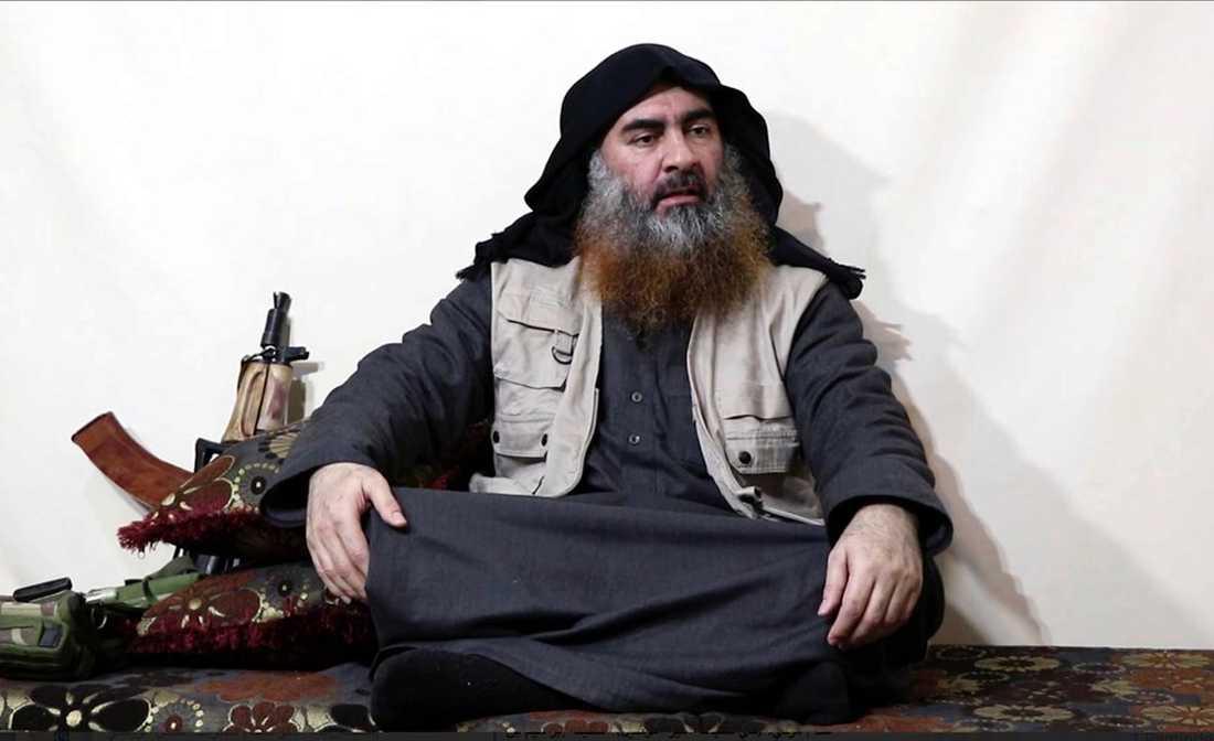 Abu Bakr al-Baghdadi på en bild som offentliggjordes i april i år.