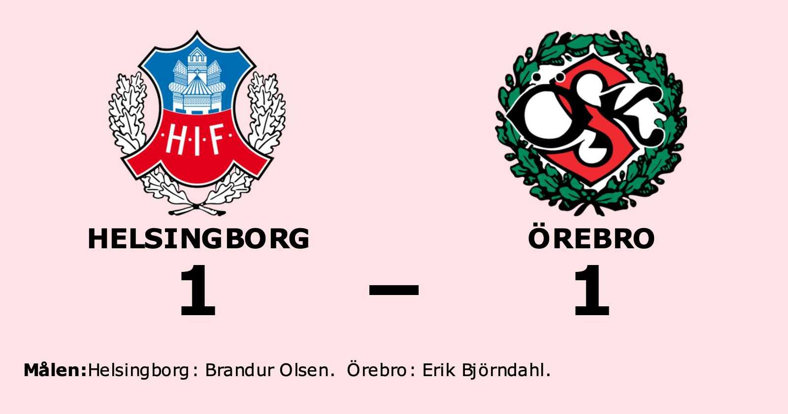 Brandur Olsen räddade poäng när Helsingborg kryssade