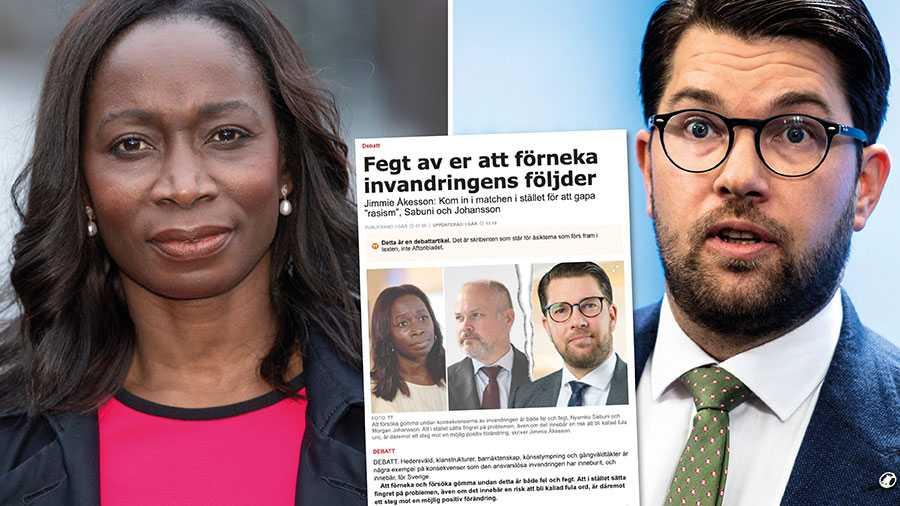 I stället för att utvisa den som begår hedersvåld eller förnedringsrån, så drar Åkesson alla över en kam. Han vill skapa uppmärksamhet kring sin negativa syn på invandrare, snarare än på hur vi ska lösa Sveriges samhällsproblem. Det duger inte, skriver Nyamko Sabuni.