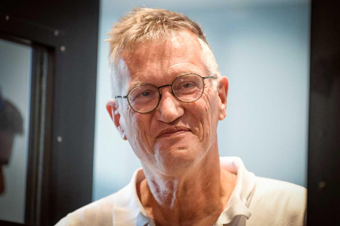 """Statsepidemiolog Anders Tegnell hamnar på """"solklar förstaplats"""" när svenskarna får välja önskegäst till julbordet. Arkivbild."""