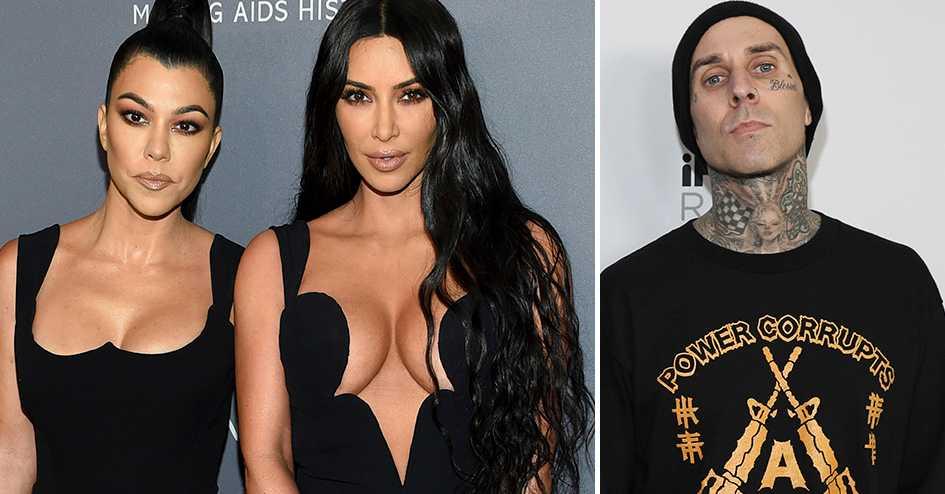 Kourtney Kardashian (t.v.) och Travis Barker uppges dejta.