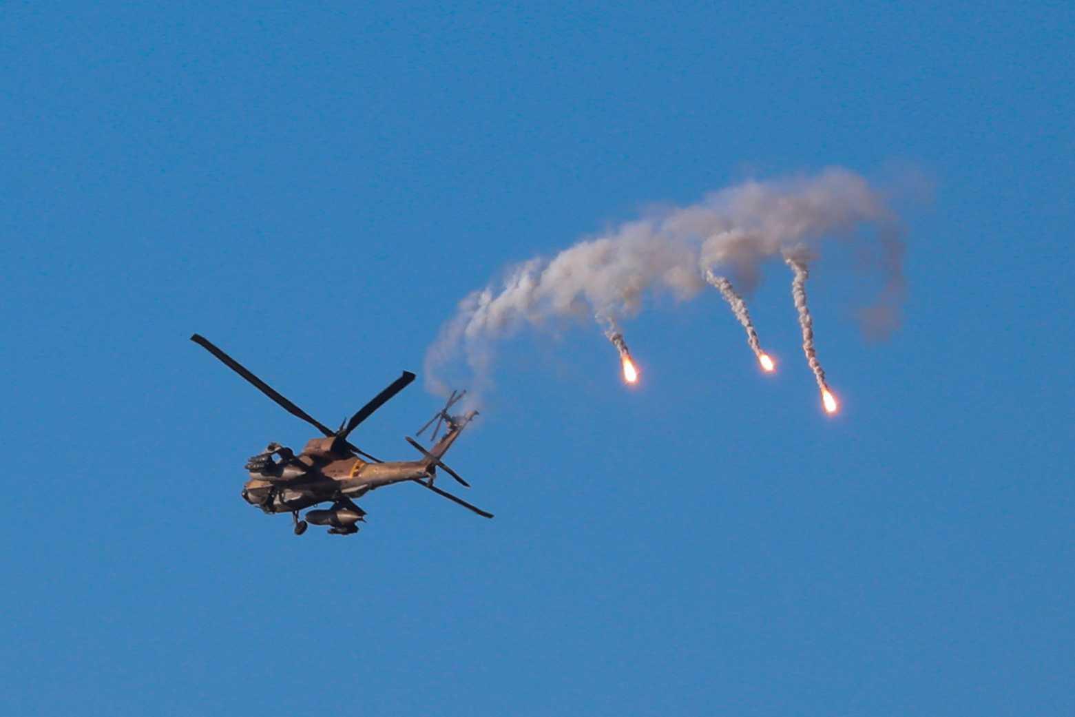 Israelisk attackhelikopter.