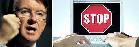 Den brittiske närings- och industriministern lord Peter Mandelson vill göra det möjligt att stänga av illegala fildelare från internet.
