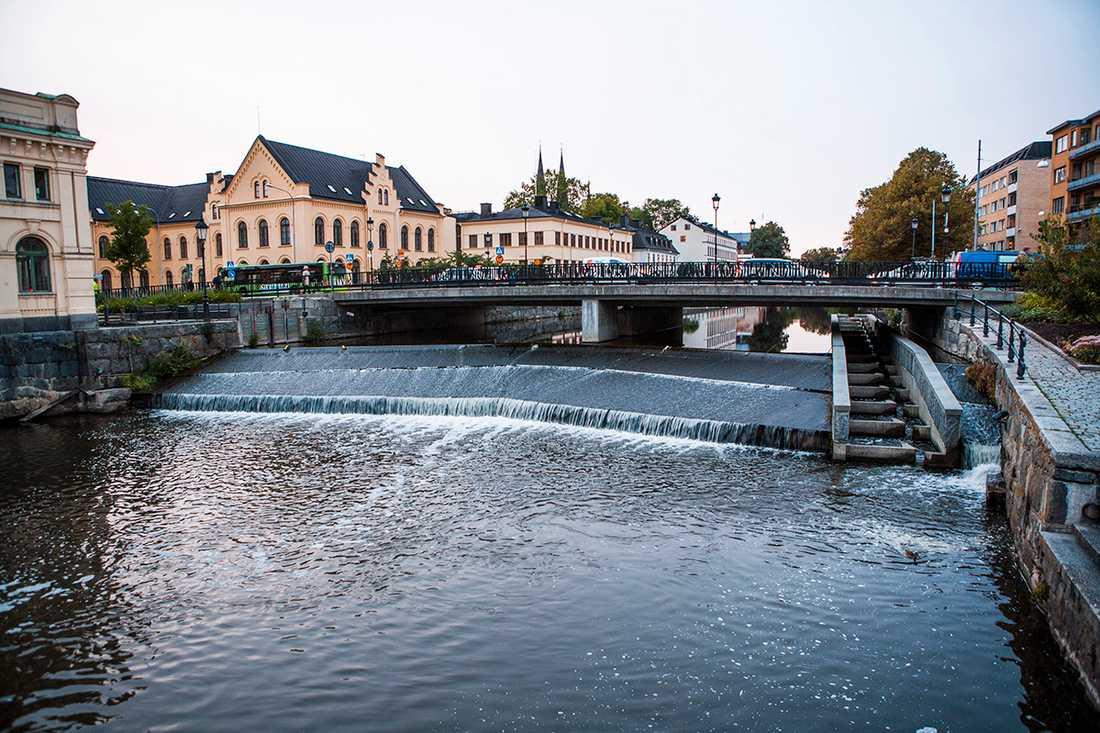 Den 65-åriga mannen onanerade intill Fyrisån i centrala Uppsala.