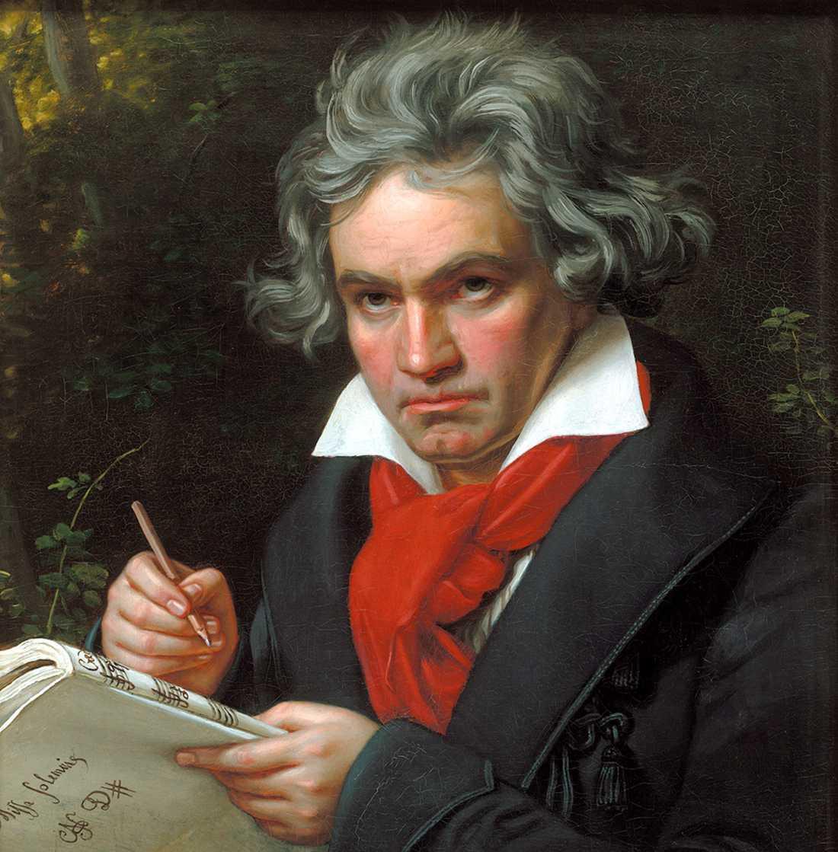 Ludwig van Beethoven, målning av Joseph Karl Stieler 1820.