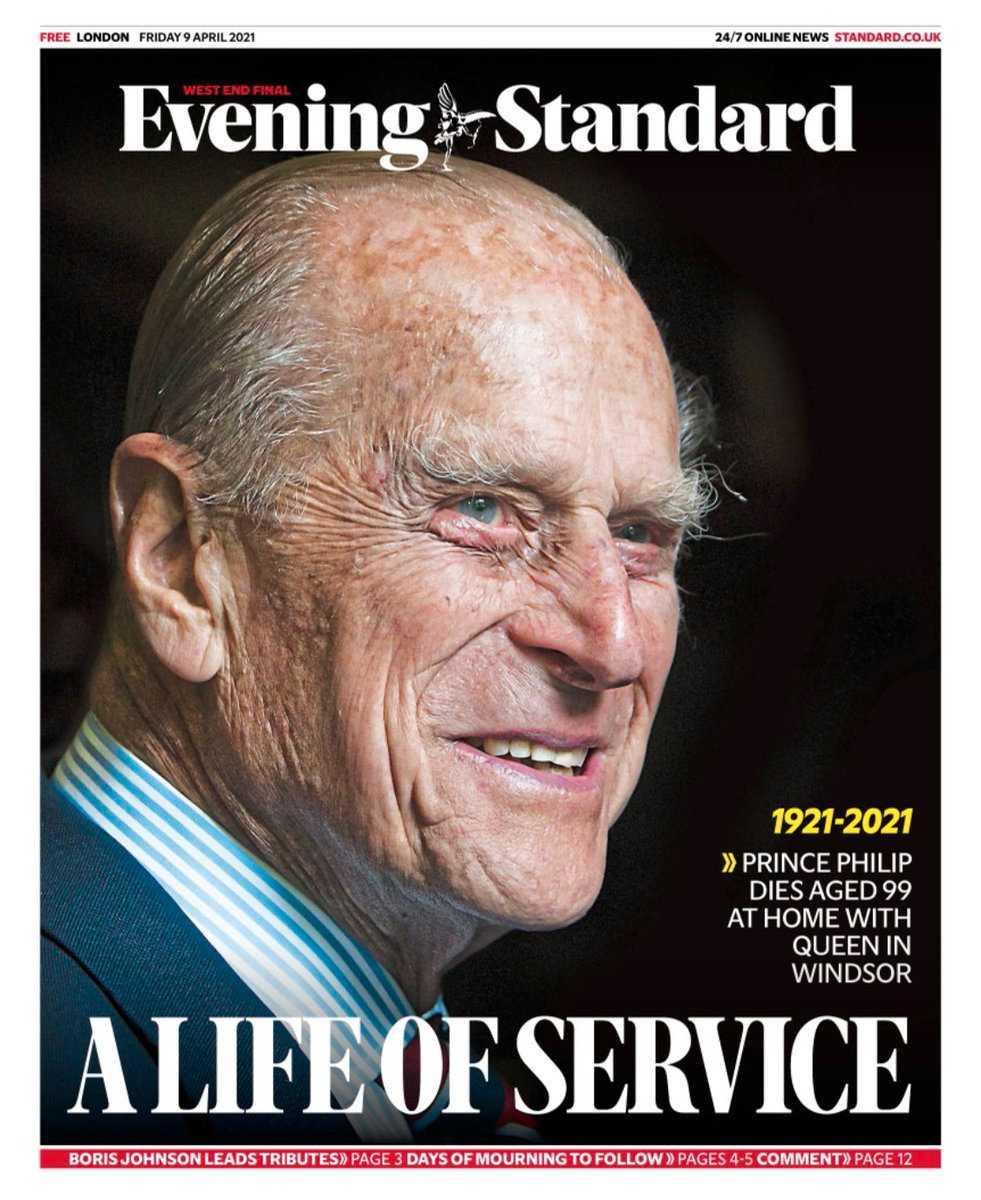 """Evening Standard: """"Ett liv av tjänst""""."""