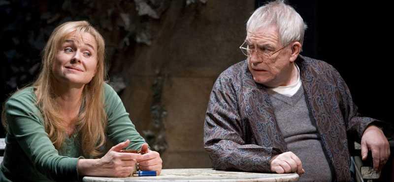 """Brian Cox, här på Broadway-scenen tillsammans med Sinead Cusack, ryktas komma att spela dvärg i de kommande """"Hobbit""""-filmerna."""