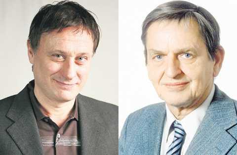 """LIKA SOM BÄR Henning Mankell är säker på sin sak: Michael Nyqvist ska ha rollen som Olof Palme. """"Titta på Micke så ser du att han faktiskt är lik honom"""", säger Mankell."""