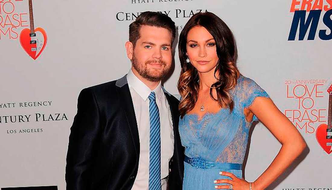 Jack Osbourne tillsammans med frun Lisa. Paret har två barn.