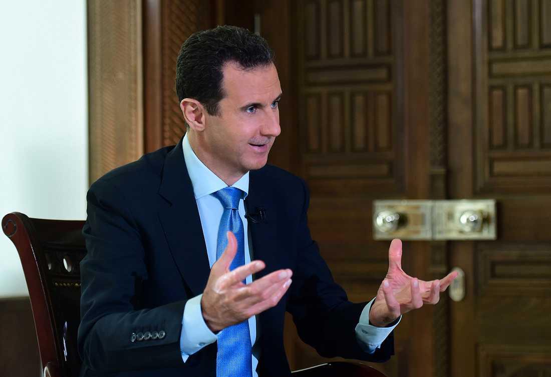 Bahsar al-Assad i en intervju med AP tidigare i år.
