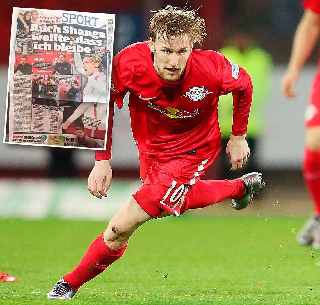 Emil Forsberg gör succé i RB Leipzig och har blivit belönad med ett nytt kontrakt.