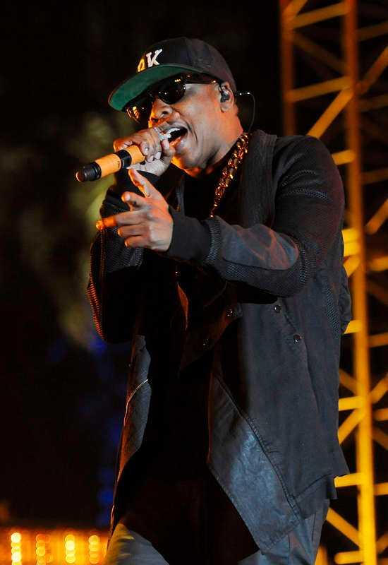 Jay Z var en av artisterna som underhöll publiken.