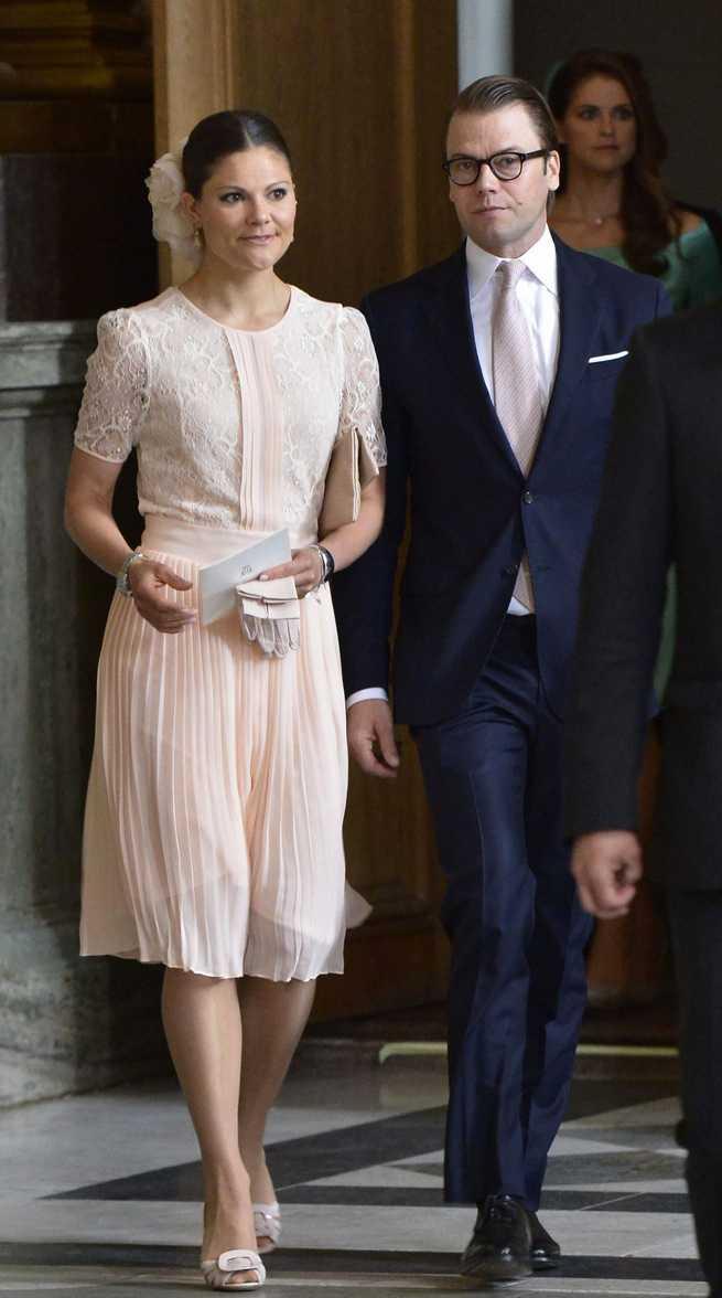 Victoria med prins Daniel.