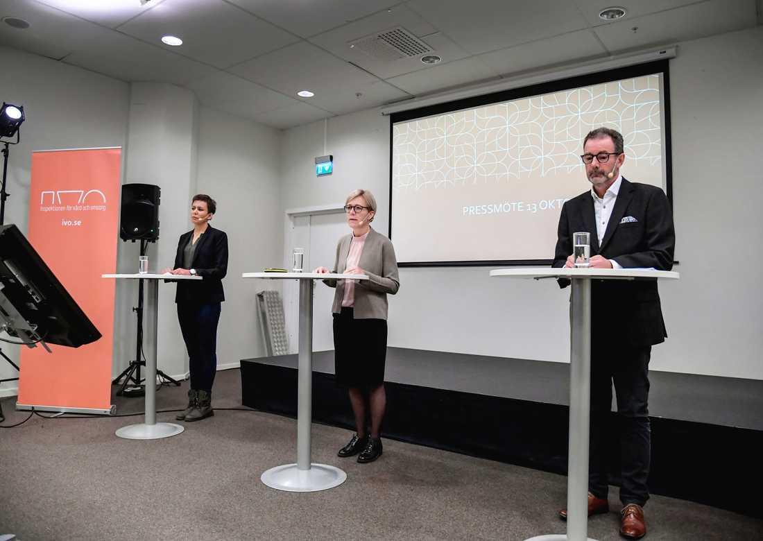IVO hade presskonferens om granskningen av Norrköpings kommun under tisdagen.