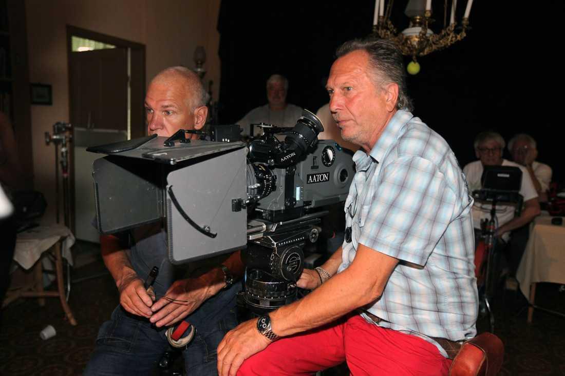 Kamerateamet i Södra Vångas Missionshus.