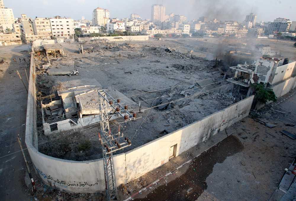 En av Hamas byggnader har utplånats.