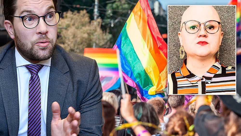 Sverigedemokraterna vill få oss att tro att de är ett parti som alla andra. Som i grund och botten står upp för de rättigheter vi andra har kämpat för – motarbetade av just dem. Låt oss aldrig gå på det, skriver Emma Hult (Mp).