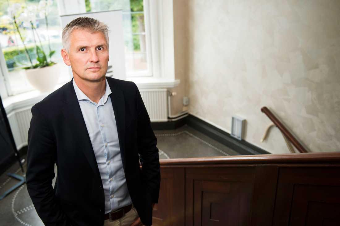 Peter Gentzel, vd för Svensk elithandboll, manar Riksidrottsförbundet till en skyndsam fördelning av det statliga stödpaketet på en miljard kronor till idrotten. Arkivbild.