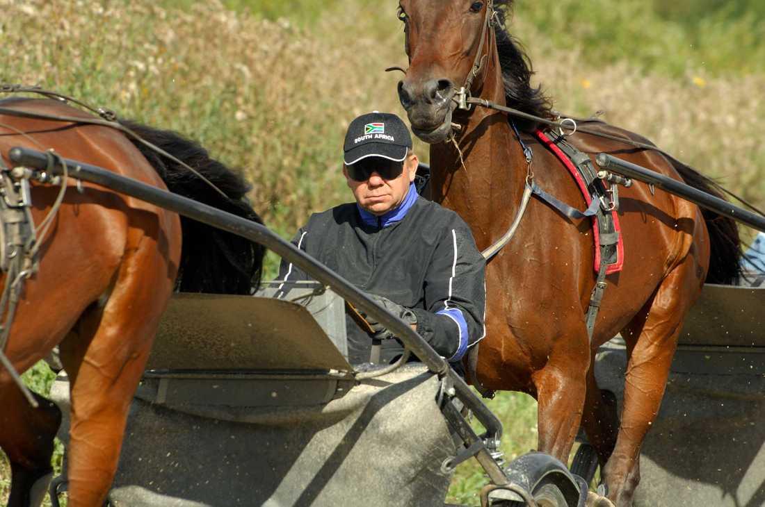 Tommy Hanné tränar sina hästar.