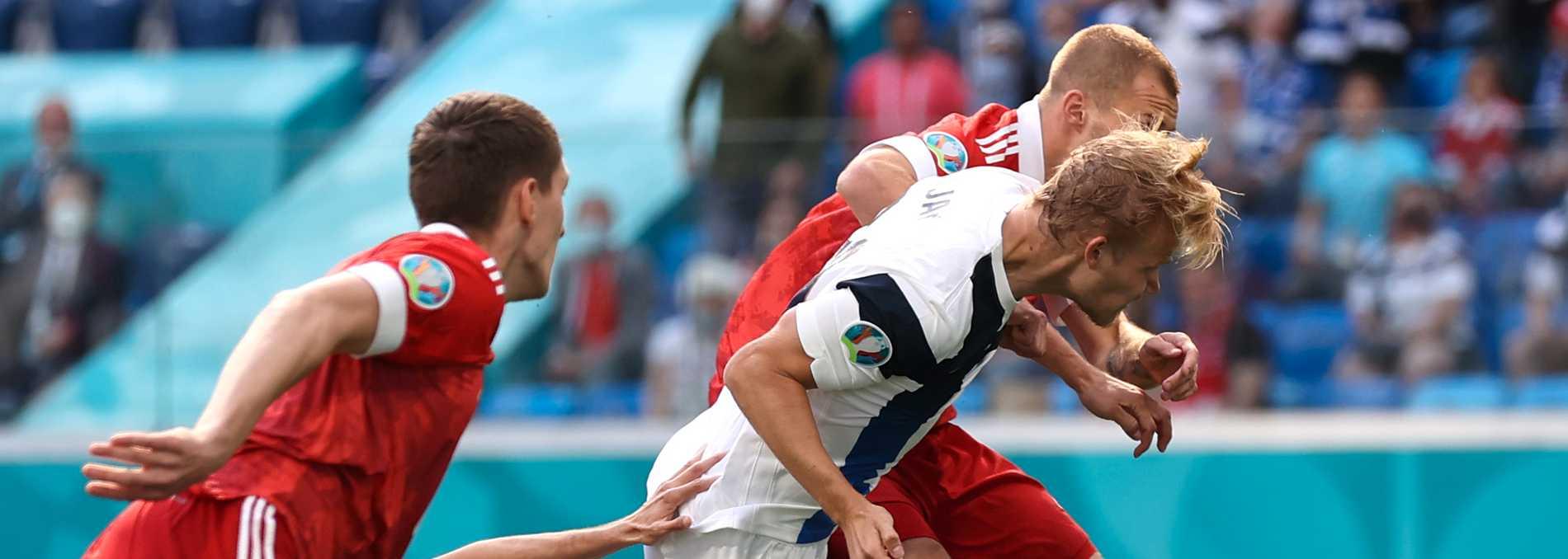 Joel Pohjanpalos estetiskt perfekta omställningsmål för Finland i matchen mot Ryssland dömdes bort