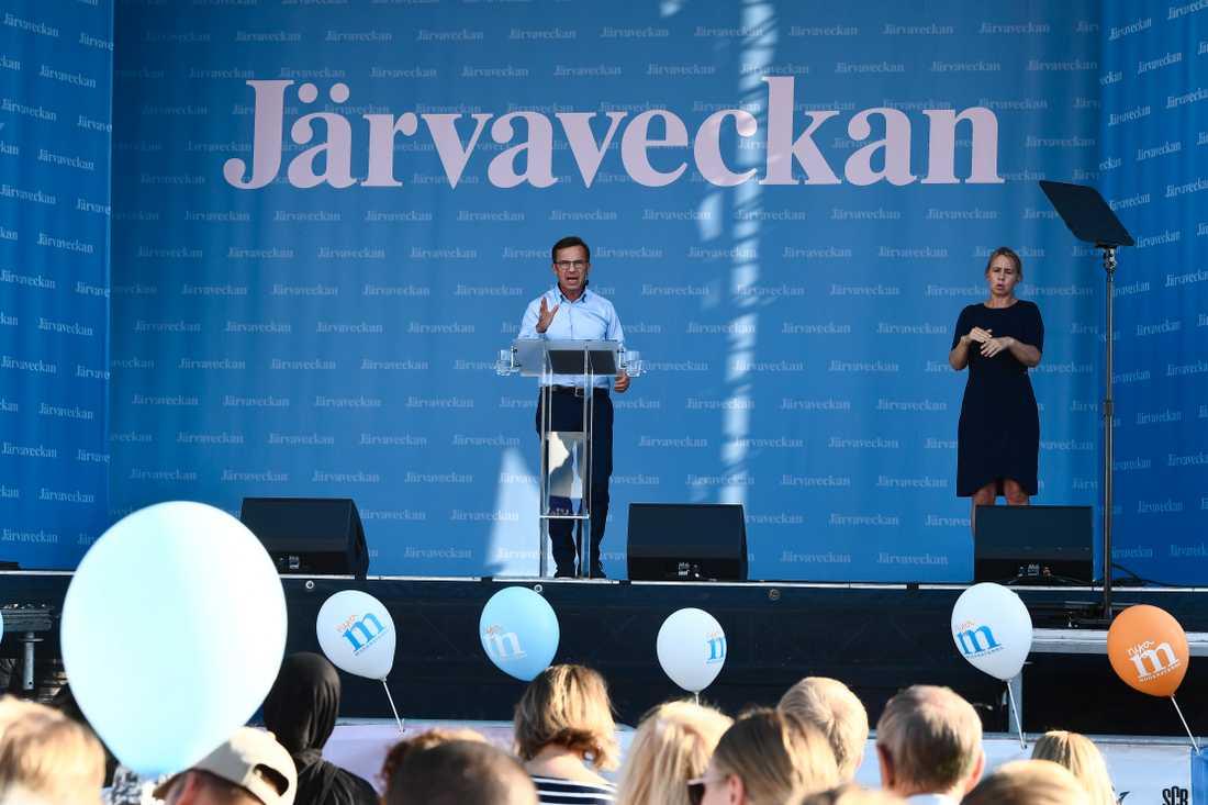 Ulf Kristersson talar under Järvaveckan