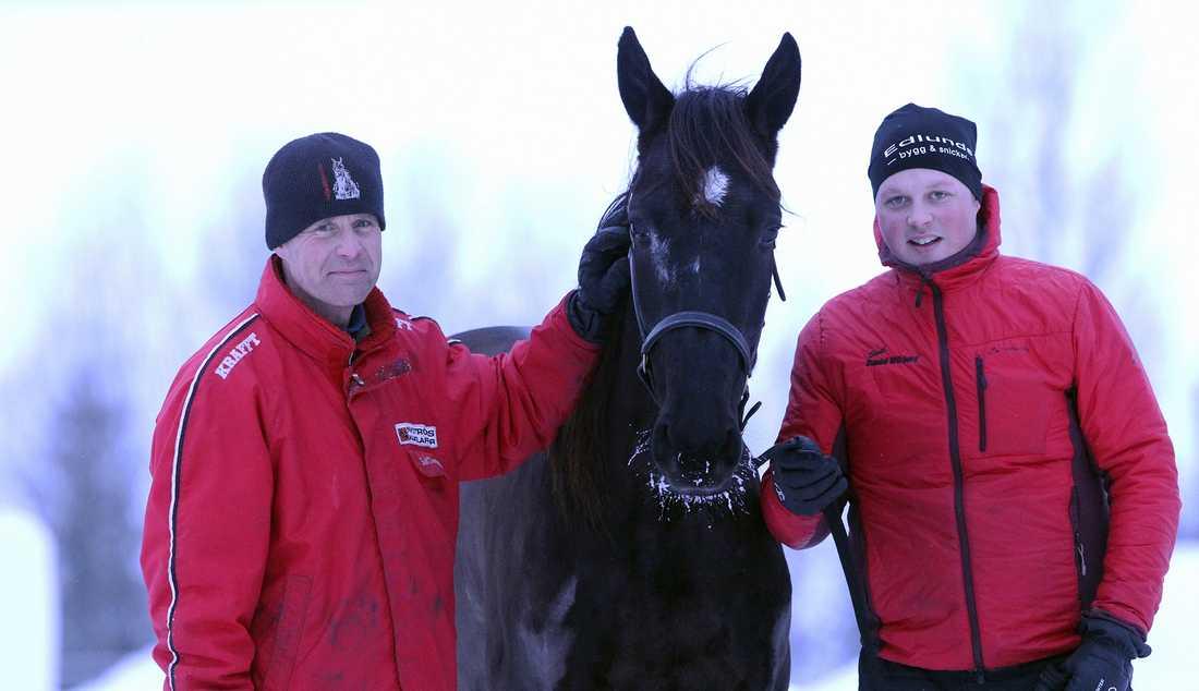 Weekend Fun hemma på gården med tränaren Daniel Wikberg och skötaren Jimmy Dillner.