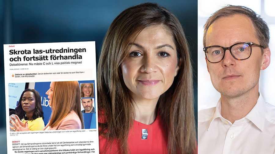 Maria Arkeby och Daniel Färm uppmanar Liberalerna att dra tillbaka hotet om lagstiftning. Låt oss vara tydliga: när nu parterna har misslyckats måste politiken ta ansvar. Det kräver ny lagstiftning, skriver Gulan Avci och Mats Persson.