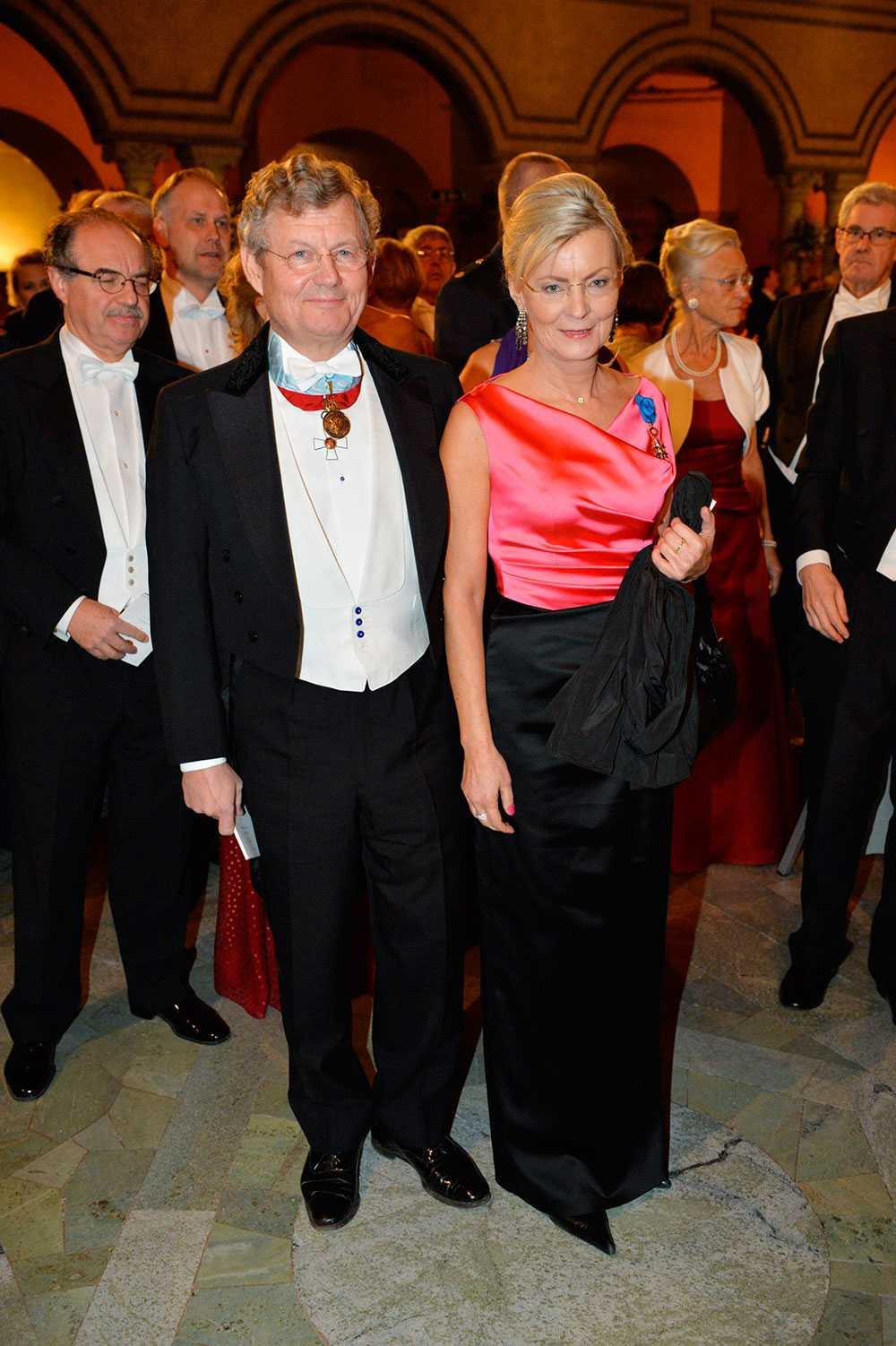 Jacob Wallenberg med Annika Levin.