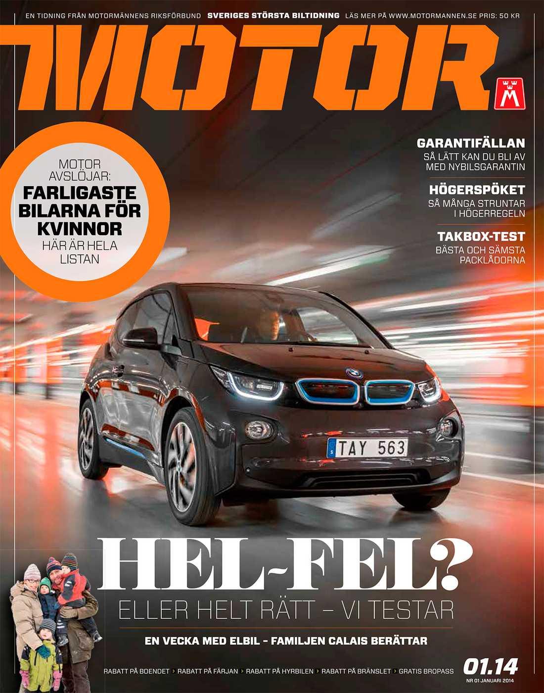 Tidningen Motor, nummer ett 2014.