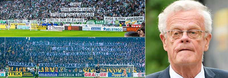 Supportrar från flera lag krävde Björn Erikssons avgång. Nu frias han från misstankar om jäv.