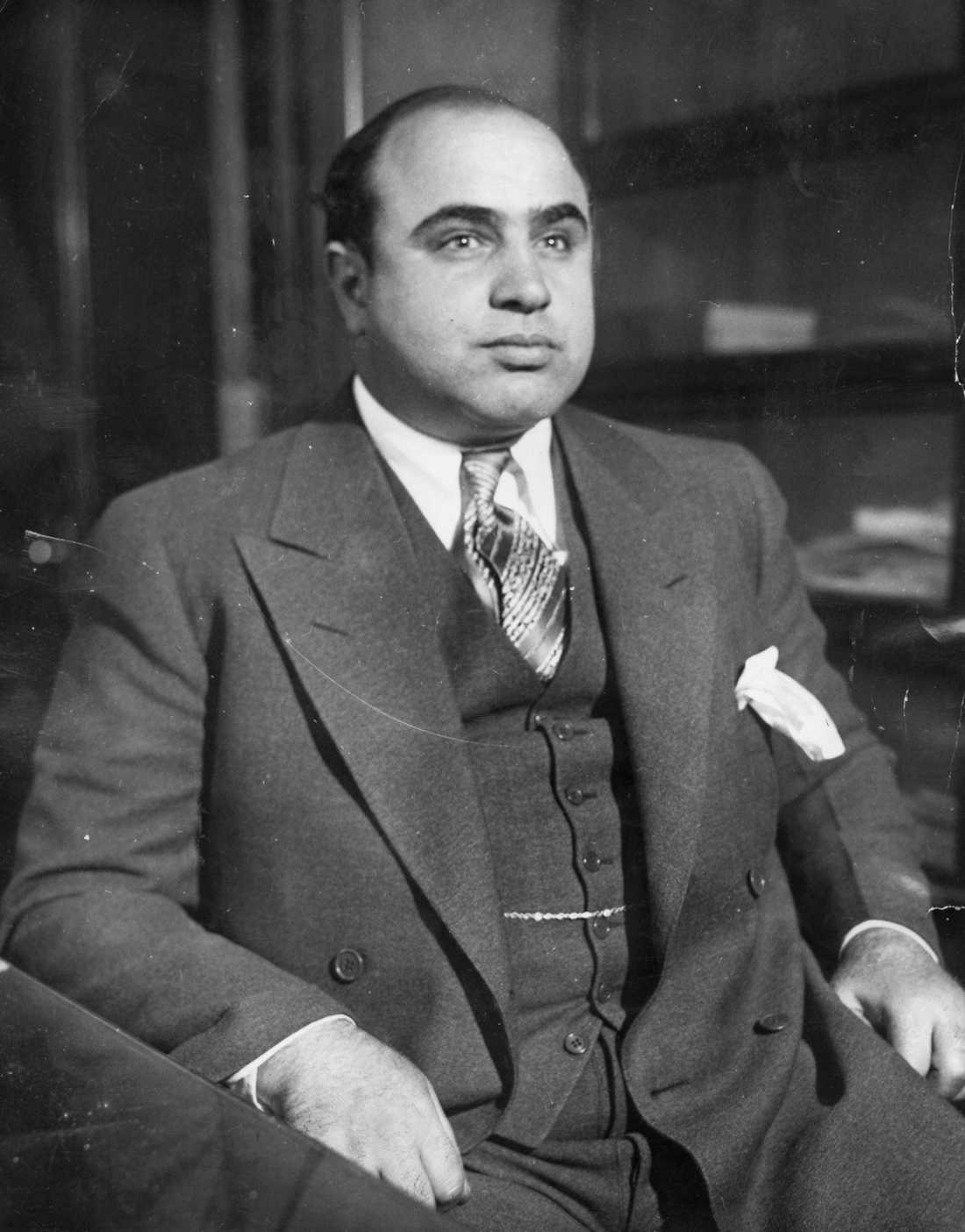 Den verklige Al Capone 1930.
