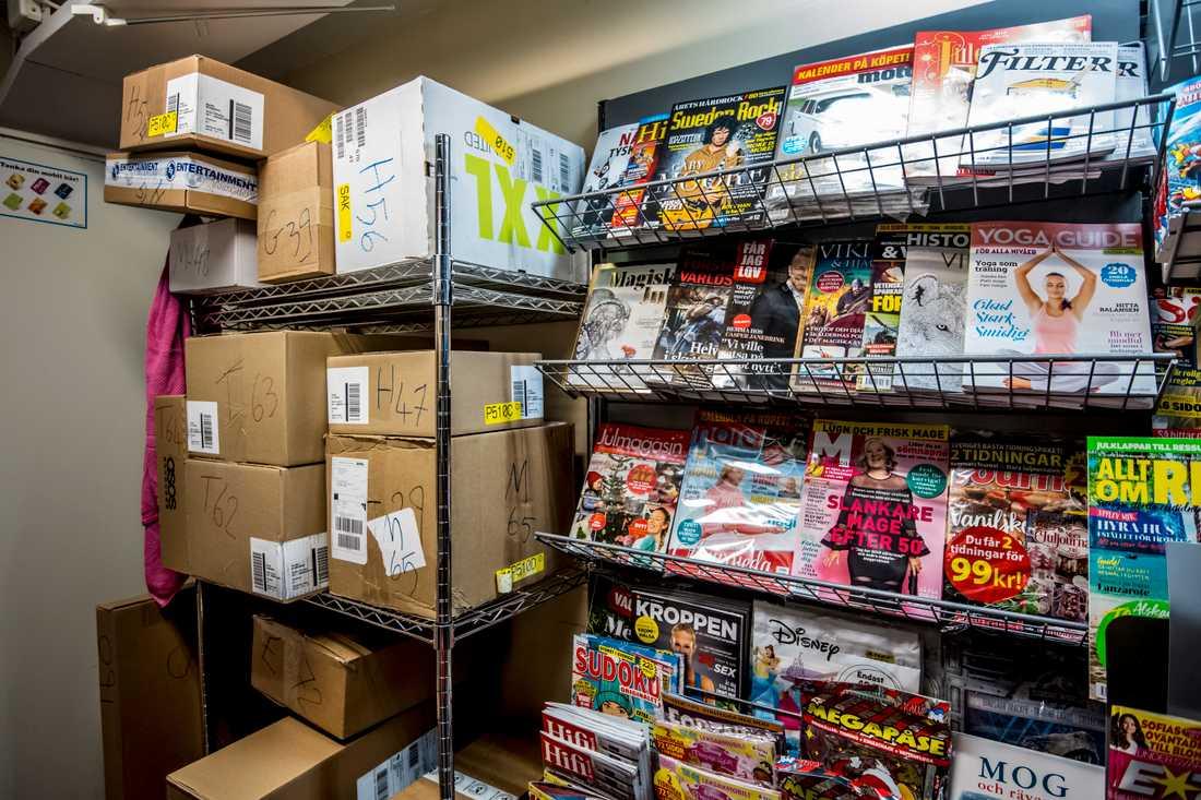 Inom kort kommer magasinen försvinna från butiken för att göra plats åt fler paket.