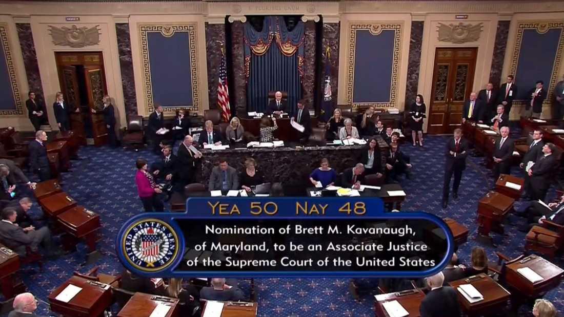 USA:s vicepresident Mike Pence meddelade resultatet av omröstningen.