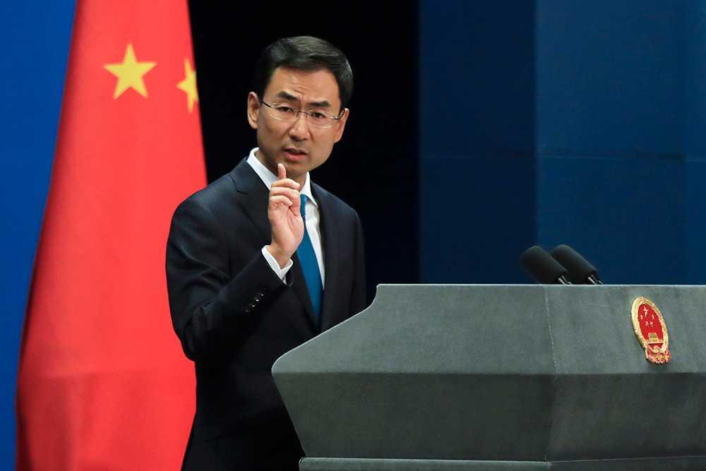 Geng Shuang, talesperson för Kinas utrikesdepartement.