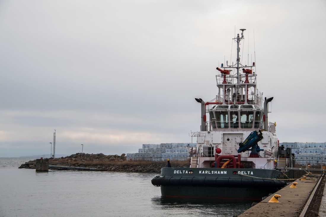 Nord Stream vill också använda hamnen i Karlshamn för lagring av rör.