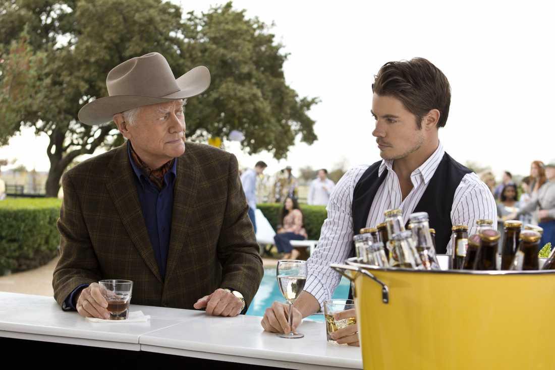 """Josh och Larry Hagman i """"Dallas""""."""