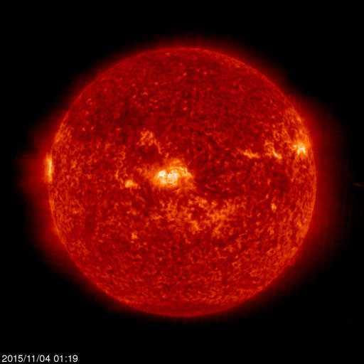 Senaste bilden på solen. Tagen i natt, vid 01 universiell tid.